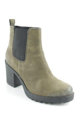 Vagabond Reißverschluss-Stiefeletten schwarz-grüngrau Casual-Look