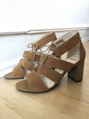 Vagabond Strapped High-Heeled Sandals light brown-cognac-coloured leather