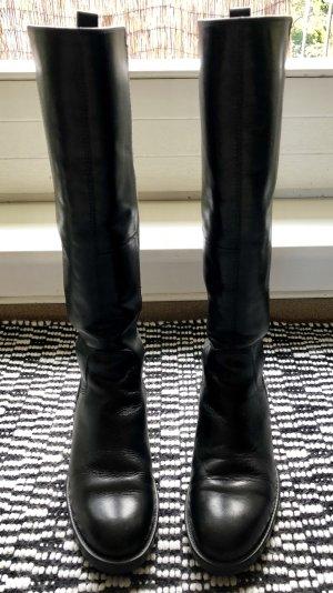 Vagabond Schwarze Lederstiefel AMINA. Wenig getragen!