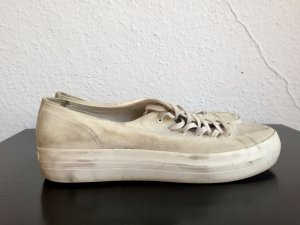 VAGABOND Sneaker creme-weiß Plateau gebraucht