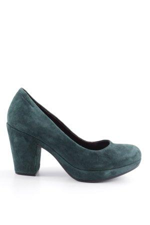 Vagabond Spitz-Pumps grün Business-Look