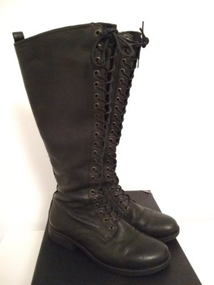 Vagabond Lace-up Boots black leather