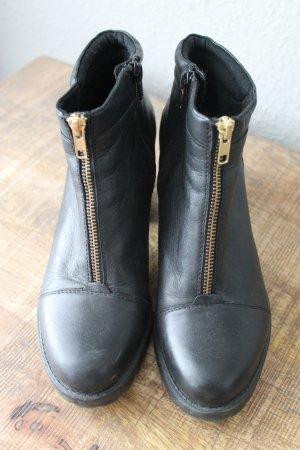 Vagabond Stiefel Stiefeletten Leder Gr. 39 Reißverschluss Schwarz Blogger