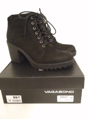Vagabond Lace-up Booties black leather