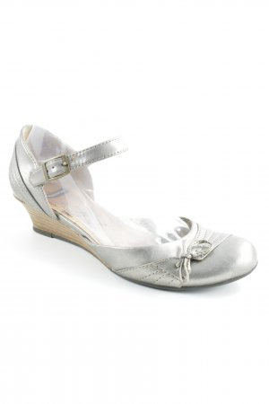 Vagabond Wedge Sandals silver-colored-light brown elegant