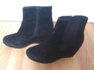 Vagabond Wedges Suede/Leder Schuhe Keilabsatz schwarz 40