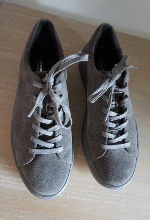 Vagabond Zoe Plateau Sneaker Wildleder 37 grau Suede Leder Echtleder