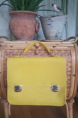 Valentina Maletín amarillo limón Cuero