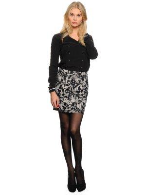 Vila Mini Dress black-natural white