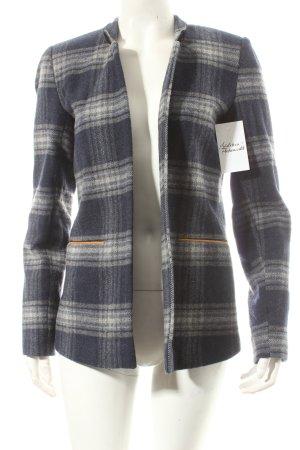 Valentine Gauthier Woll-Blazer weiß-blau Karomuster Casual-Look