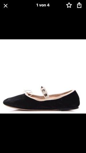 Valentino Lakleren ballerina's zwart