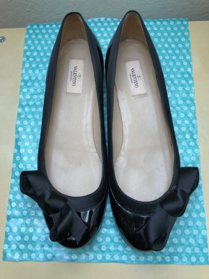 Valentino Patent Leather Ballerinas black