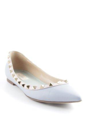 Valentino Ballerinas mit Spitze blassblau-altrosa Elegant
