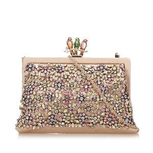 Valentino Beaded Satin Chain Frame Bag