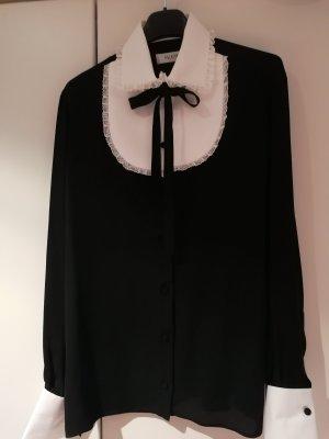 Valentino Lace Blouse white-black