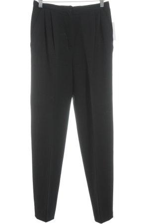 Valentino Boutique Bundfaltenhose schwarz Elegant