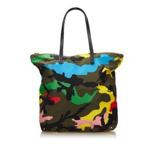 Valentino Camouflage Nylon Tote Bag