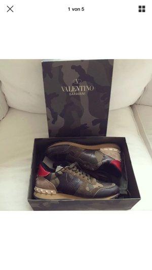Valentino Camouflage Rockstud Sneaker Schuhe Trainers Turnschuhe