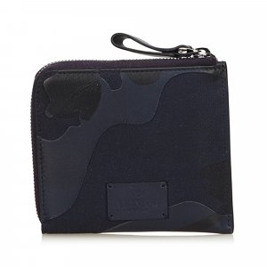 Valentino Camouflage Zip Around Wallet