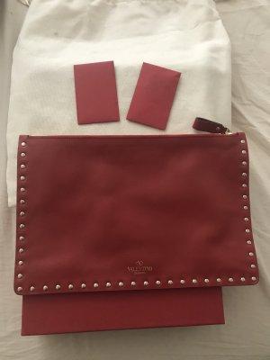 Valentino Pochette rouge cuir