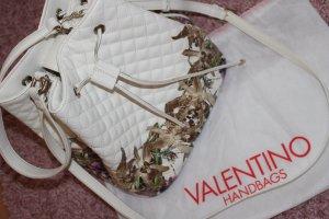 Valentino Dufflebag Weiß mit Blumenprint