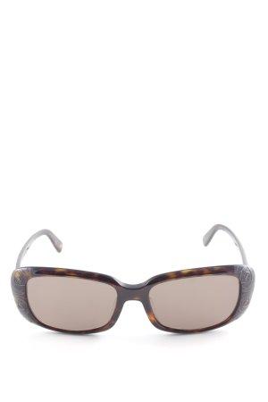 Valentino eckige Sonnenbrille schwarz-cognac Retro-Look