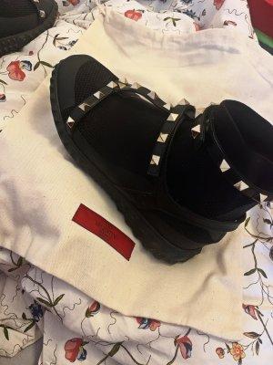 C. Valentino Slip-on Sneakers black leather