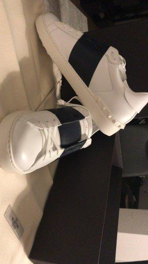Valentino Zapatilla brogue blanco-azul oscuro Cuero