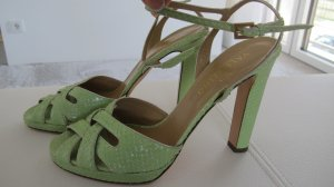 Valentino High Heel Sandal lime-green reptile leather