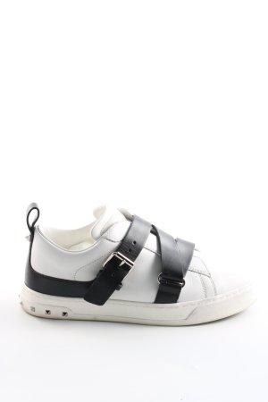 Schlüpfsneaker weiß-schwarz Casual-Look
