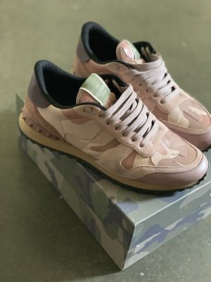 Valentino Lace-Up Sneaker rose-gold-coloured