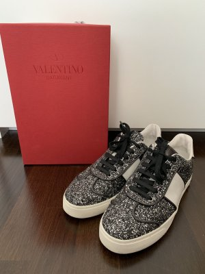 Valentino Lace-Up Sneaker black-silver-colored