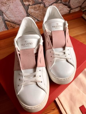 Valentino Lace-Up Sneaker white-pink