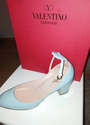 Valentino Tacones Mary Jane azul pálido-azul celeste