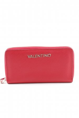 Valentino Cartera rojo-color oro look casual