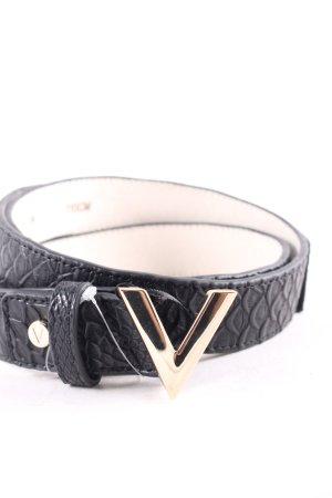 Valentino Gürtel schwarz Leder-Optik