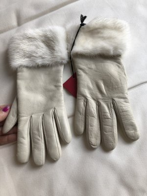 Valentino Leren handschoenen wolwit-room