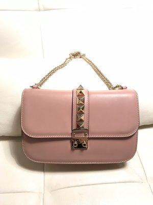 VALENTINO Handtasche Glam Lock Nude, Medium