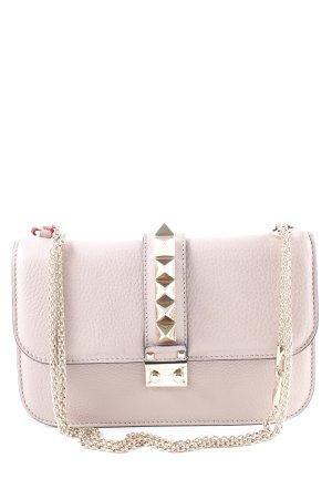 """Valentino Handbag """"Rockstud Lock Crossbody Bag Medium Poudre"""" dusky pink"""