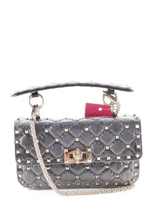 """Valentino Handtas """"Rockstud Shoulder Bag Patent Leather Transparent/Black"""""""