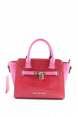Valentino Handtasche rot-pink Reptil-Optik