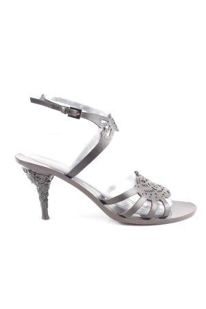 Valentino High Heel Sandaletten hellgrau Elegant