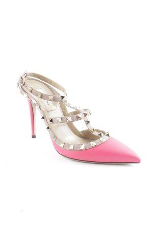 "Valentino High Heels ""Rockstud Ankle Strap Heels Deep Fuchsia/Powder 38"""