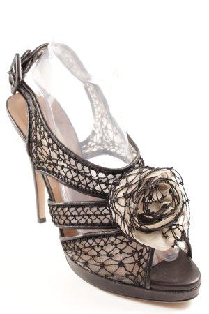 Valentino High Heels schwarz-creme Elegant
