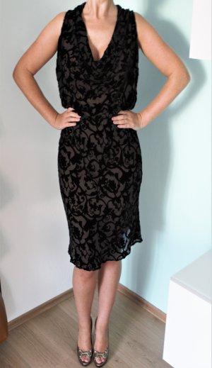 Valentino Kleid Gr. 36 edles Samtkleid Ausbrennermuster