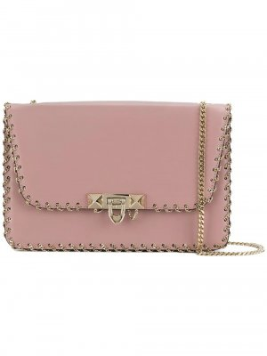 Valentino Leather Demilune Crossbody Bag