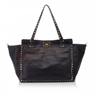 Valentino Leather Rockstud Tote