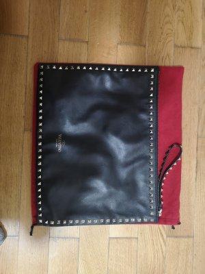 Valentino Lederhandtasche schwarz mit goldenen Nieten