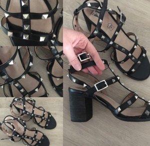 Valentino Lookalike Riemchen Sandalen 38 Nieten wie Neu! Toller Absatz sehr bequem