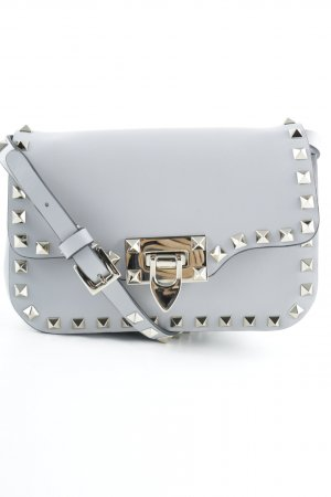 "Valentino Borsetta mini ""Rockstud Shoulder Bag Calf Small Pastel Grey """